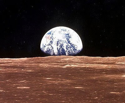 Image of Earth from the Moon in July 1969.
