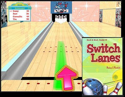 Image of one switch bowling game, Switch Lanes from SwitchInTime.com