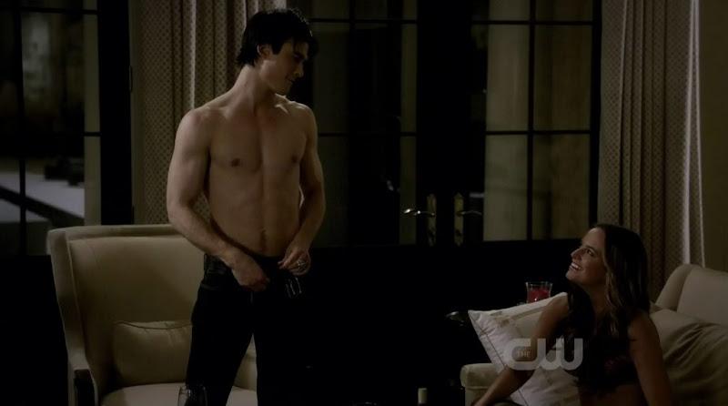 Ian Somerhalder Shirtless on Vampire Diaries s1e21