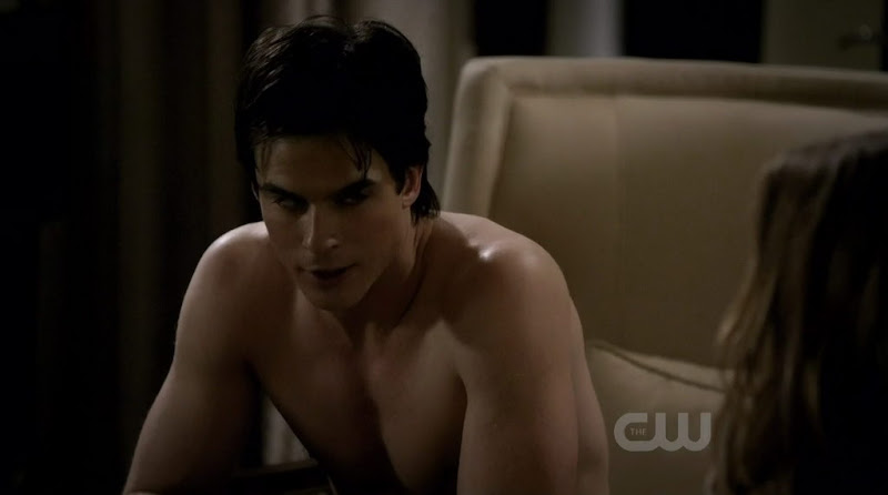 Ian Somerhalder Shirtless on Vampire Diaries s1e21