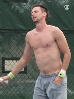 Robin Soderling Shirtless at Cincinnati Open 2009
