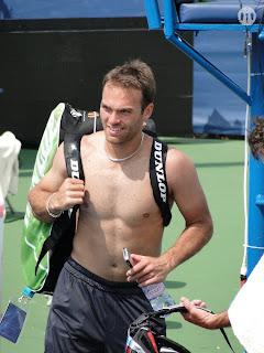 Ross Hutchins Shirtless at Cincinnati Open 2009