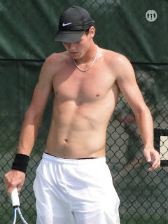 Tomas Berdych Shirtless at Cincinnati Open 2009