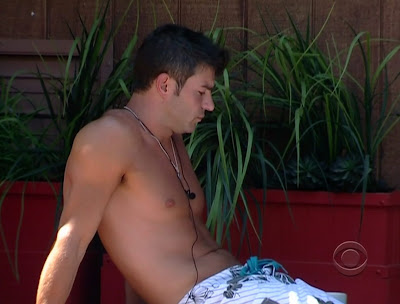 Jeff Shirtless on Big Brother 11