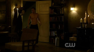 Paul Wesley Shirtless on Vampire Diaries s1e10