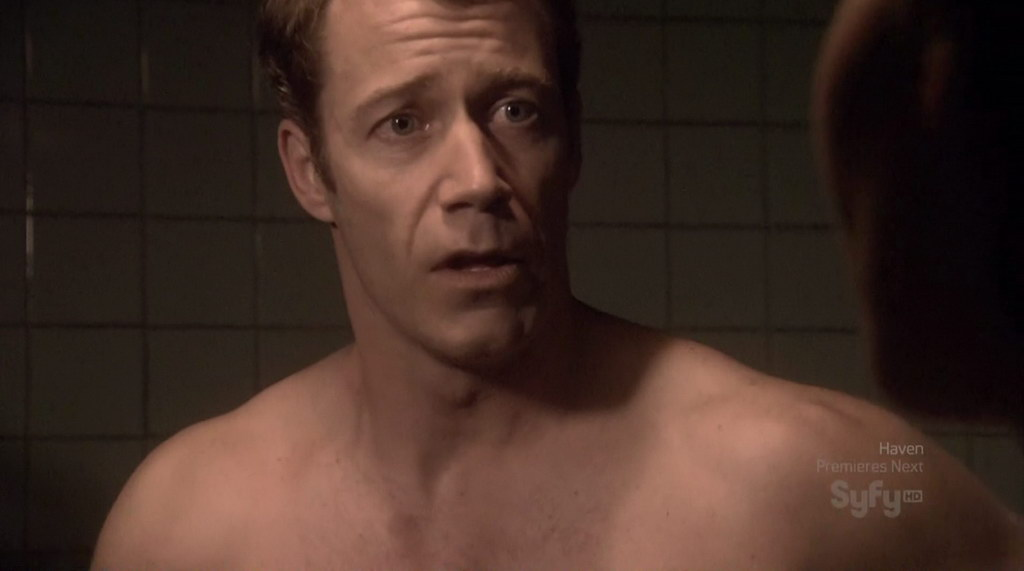 Colin Ferguson is shirtless on
