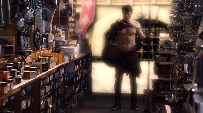 Philip Winchester Shirtless on Warehouse 13 s2e03