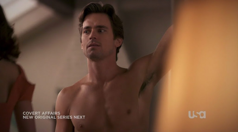 Matt Bomer Shirtless on White Collar s2e06