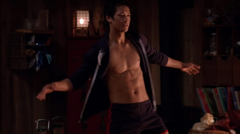 Harry Shum Jr Shirtless on Glee s2e01
