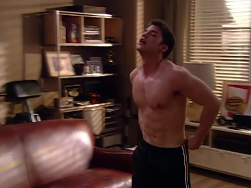 David A. Gregory Shirtless on One Life To Live 20101018