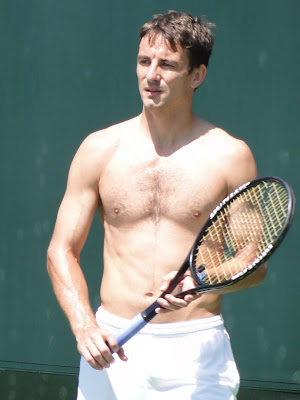 Tommy Robredo Shirtless at Miami Open 2010