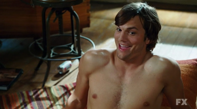 Ashton Kutcher Shirtless in What Happens in Vegas