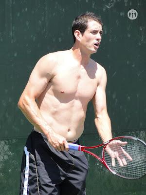Guillermo Garcia-Lopez Shirtless at Miami Open 2010
