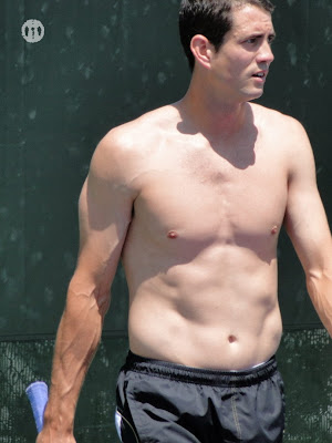 Guillermo Garcia-Lopez Shirtless at Miami Open 2010