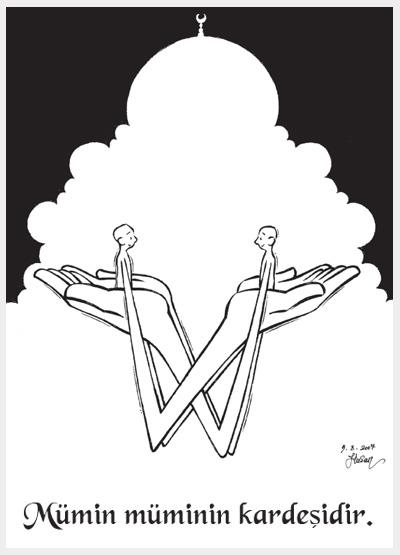 Dini karikatürler islami çizimler