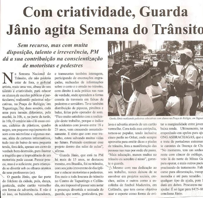 Reportagem do JORNAL DO TRÂNSITO - DF