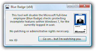 Blue Badge Unlock the Locked Features in Windows 7 [updated] bluebadge patch 3