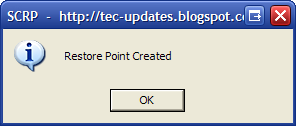 Create Restore Point with Just One Click