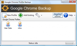 Backup Addon for Chrome