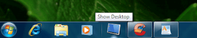 Pin Show Desktop Option in Windows 7 Taskbar