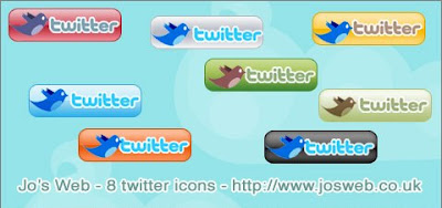 twitter icons by jo part 2 400+ Beautiful Twitter Icons for your Website