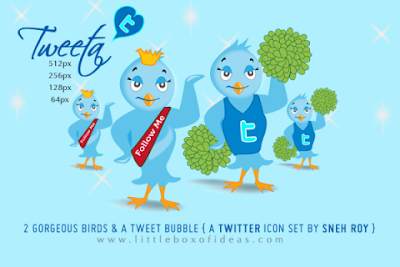 tweeta, 400+ Beautiful Twitter Icons for your Website