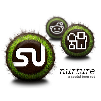 Nurture social bookmarking icon set