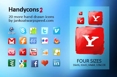 Handycons 2 social media icons, 75 Beautiful Free Social Bookmarking Icon Sets