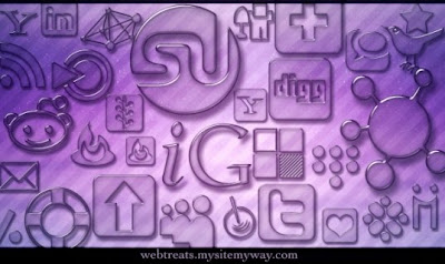 105  608x608 01 transparent glass social bookmarking icons webtreats preview 75 Beautiful Free Social Bookmarking Icon Sets