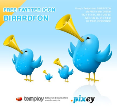 Twitter Icons BIRRRDFON by templay team 350+ Fresh Twitter Icons