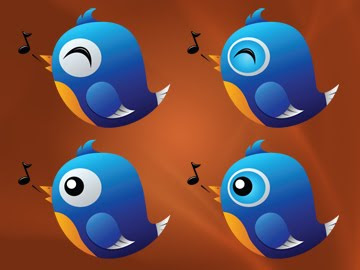 singing twitter bird icons 350+ Fresh Twitter Icons