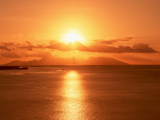From Ocean Sun Set Nature HD Wallpaper