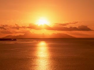 From Ocean Sun Set Nature HD Wallpaper