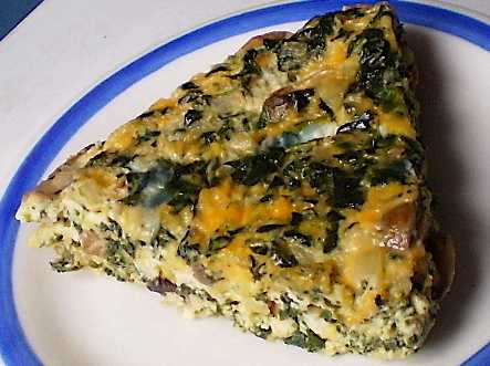 Crustless Spinach Mushroom QuicheUne Recipe Pour le Peuple