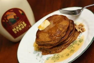 5 finished product Guest Post: Pioneer Pumpkin Pancakes Recipe
