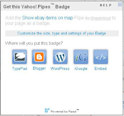 yahoo pipes, pipe badges