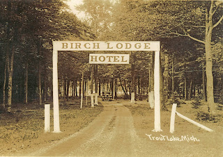 Vintage Entrance to Birch Lodge