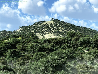Mountain 3D Standard Resolution Wallpaper
