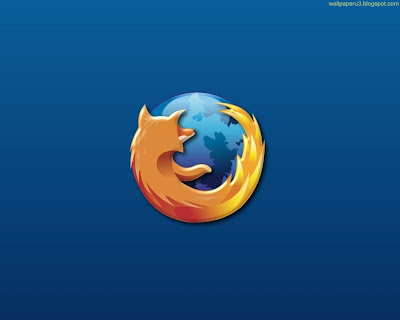 Firefox Blue Background Standard Resolution Wallpaper