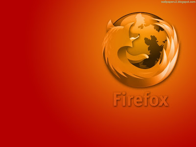 Firefox Orange Background Standard Resolution Wallpaper