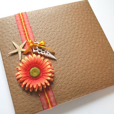 Papercut Kitchen Custom Beach Scrapbook Cover