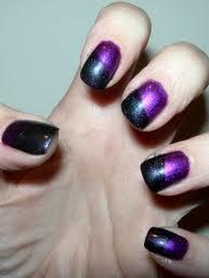 halloween nail art in black