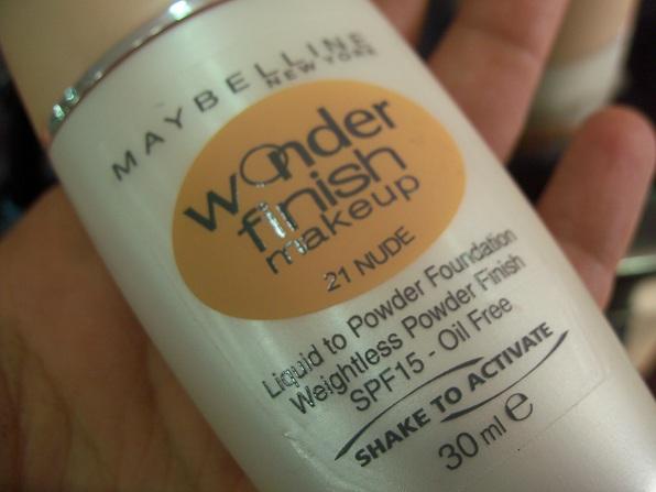 maybelline wonder finish makeup