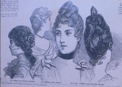 La chronologie de la coiffure des dames au XIXe