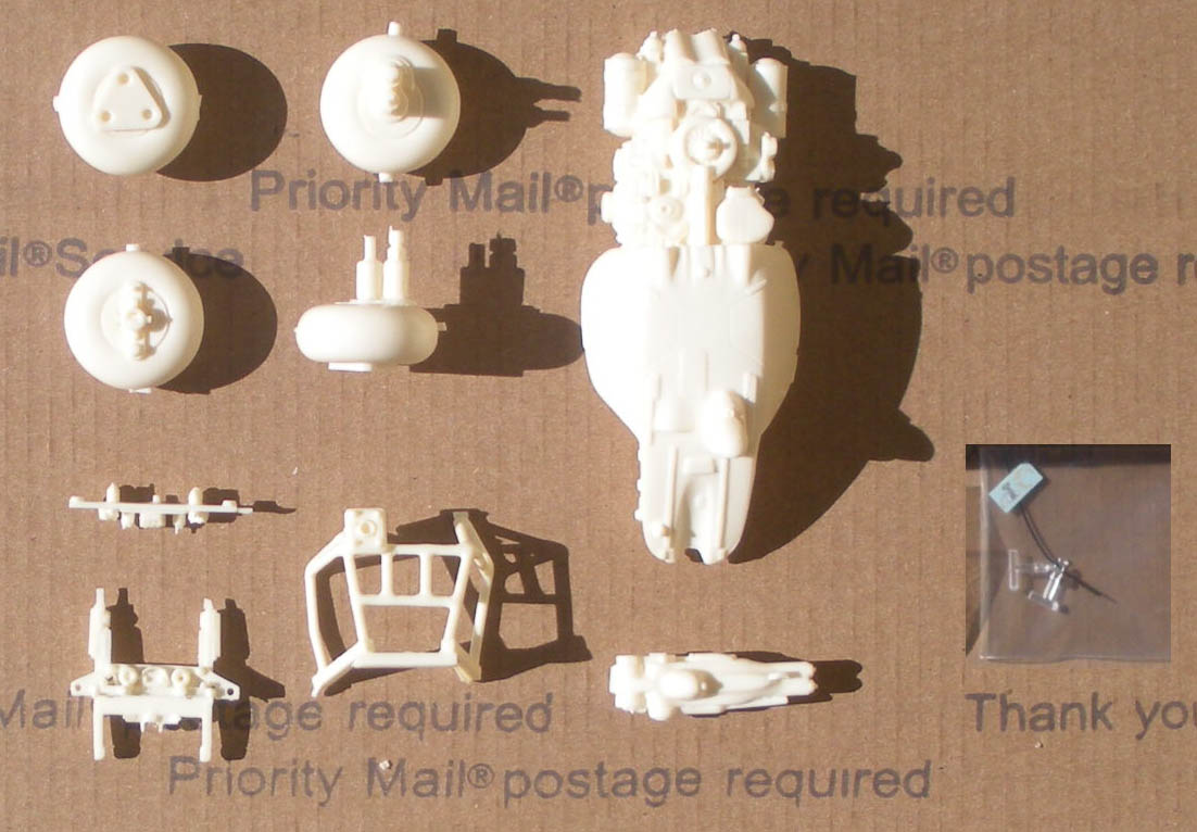 how to clean resin model parts