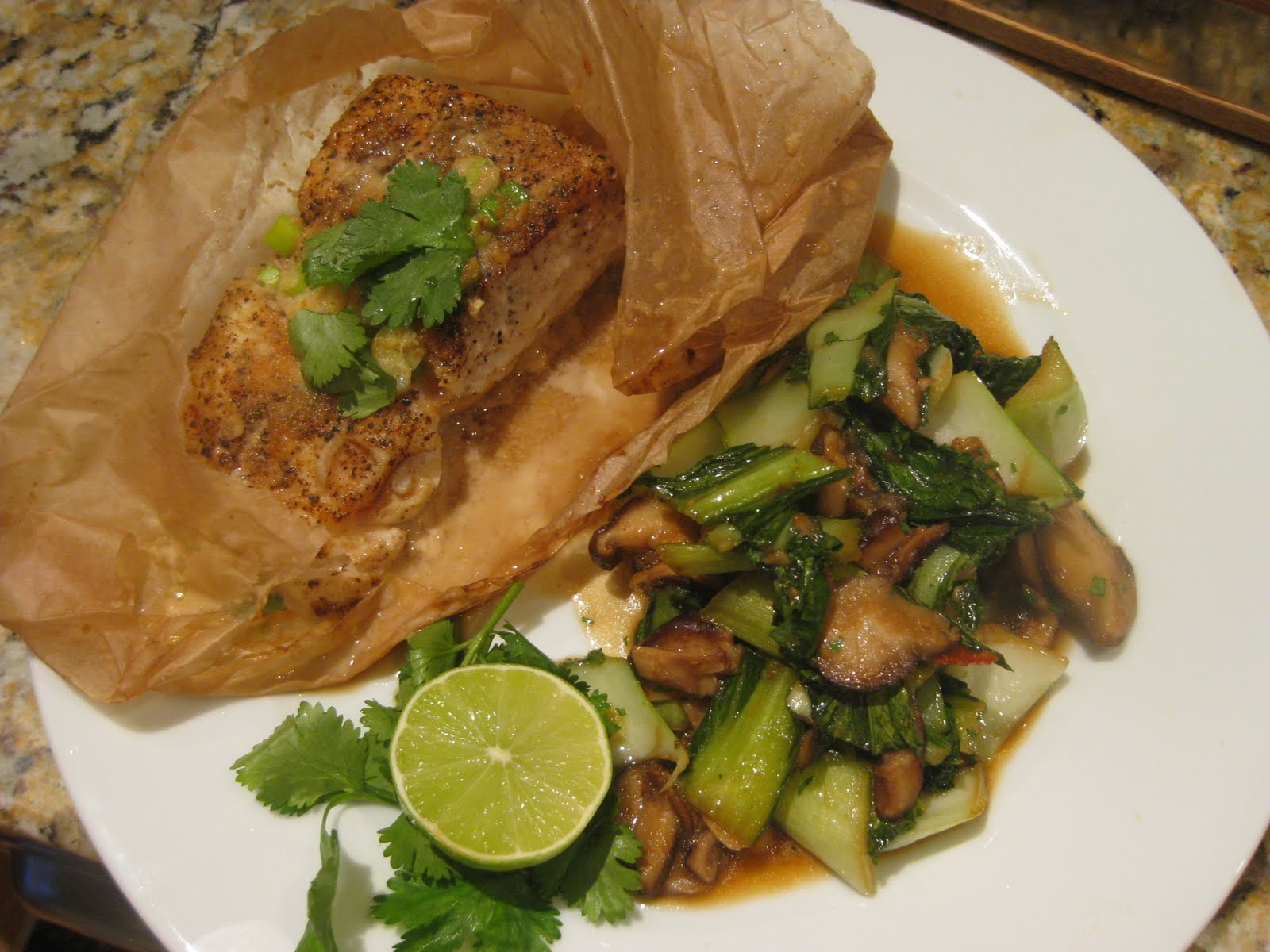 Domesticated Peacock: Skinny Bitch Meals: Thai Halibut En ...