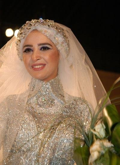 Another Popular Style Of Wedding Hijabs Is The Egyptian One Which Consists Two Pieces Inner Piece Similar To Long Hijab And Worn
