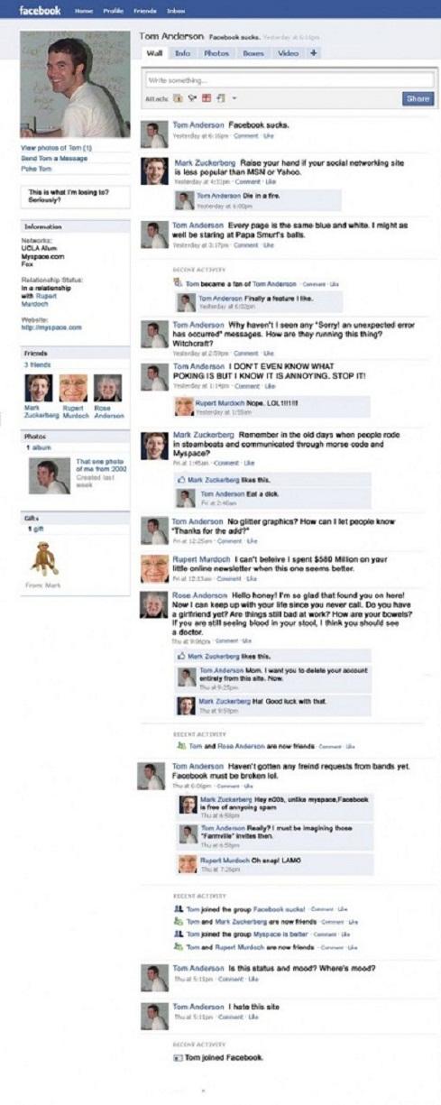 Tom Anderson vs Mark Zuckerberg
