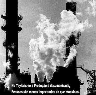 No Taylorismo a Produção é desumanizada, Pessoas são menos importantes do que máquinas.