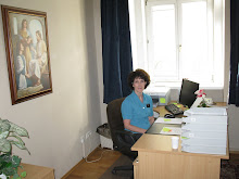 Marilyn in the mission office